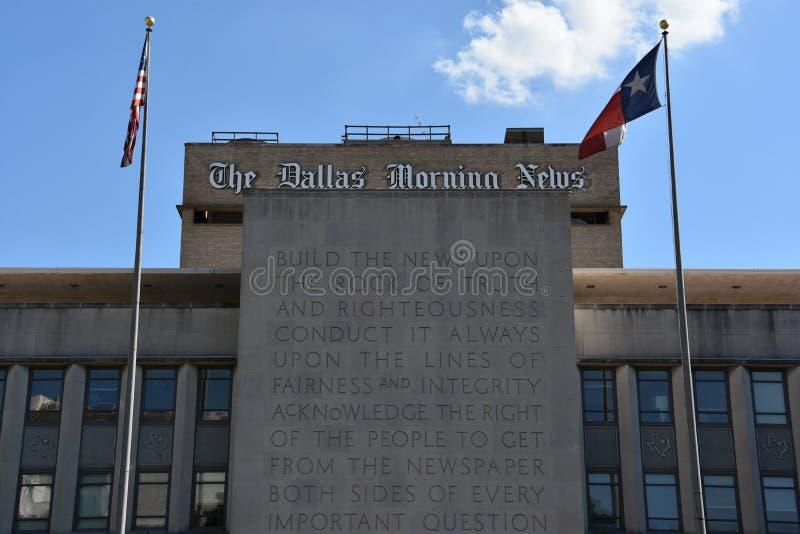 达拉斯晨报大厦在得克萨斯 免版税库存照片