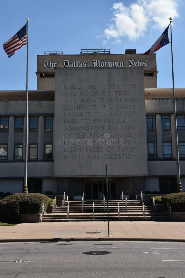 达拉斯晨报大厦在得克萨斯 库存图片