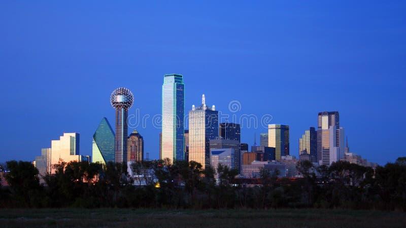 达拉斯街市地平线得克萨斯 免版税库存照片