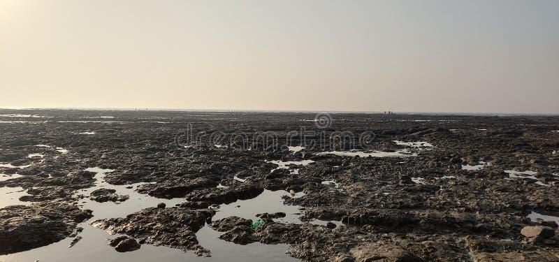 达曼海滩海 图库摄影
