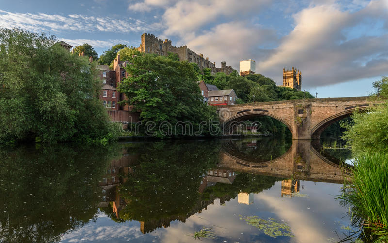 达翰姆大教堂威尔河英国英国 免版税库存图片