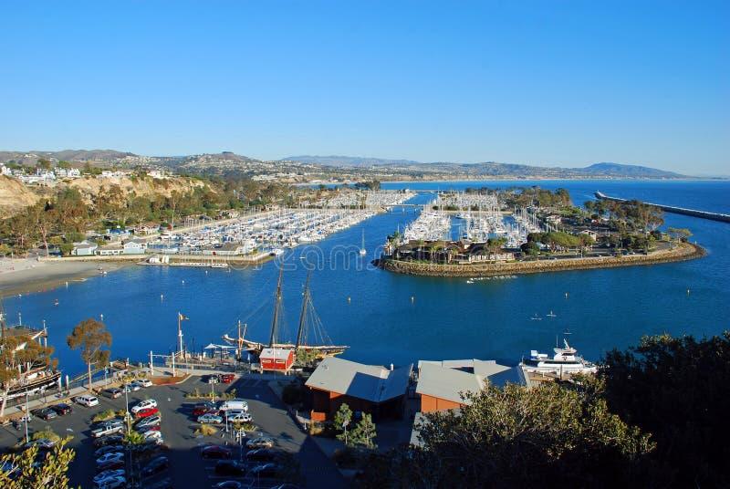 达讷论点港口,南加州 免版税库存照片