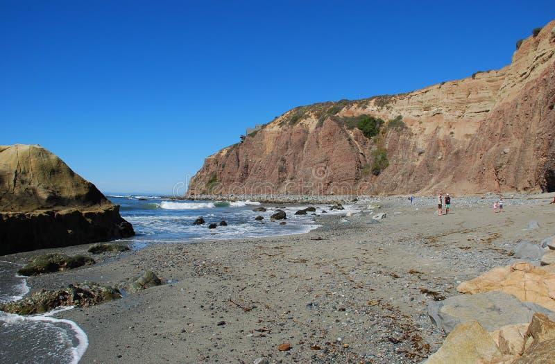 达讷论点陆岬,南加州。 免版税图库摄影