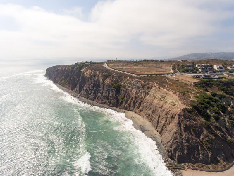 达讷论点,加利福尼亚鸟瞰图  库存图片