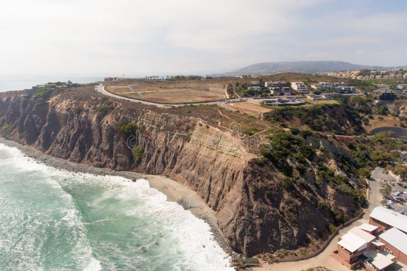 达讷论点,加利福尼亚鸟瞰图  免版税图库摄影