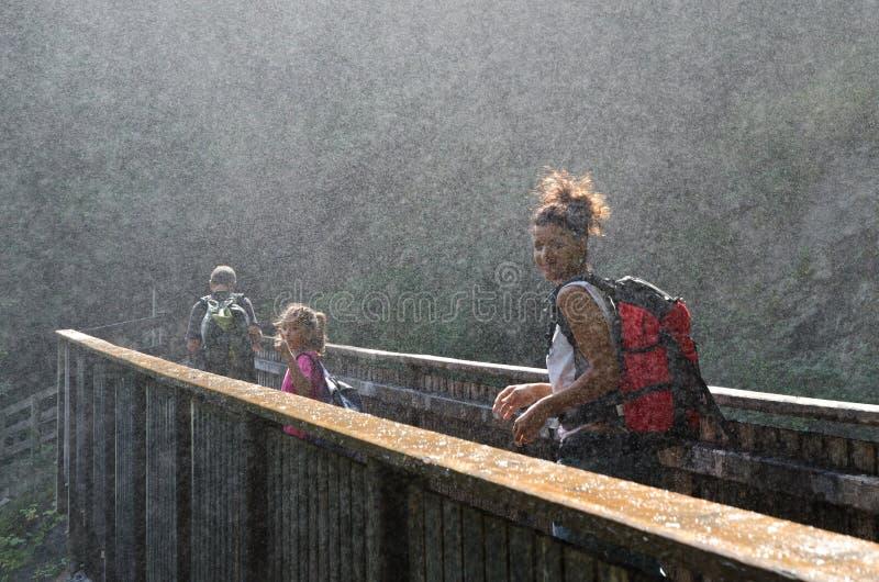 迁徙在特伦托自治省女低音阿迪杰的Val passiria 库存照片
