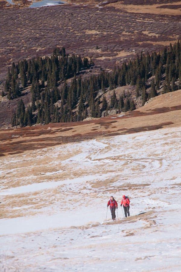 迁徙在科罗拉多山 库存照片