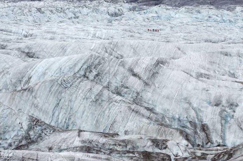 迁徙Vatnajokull冰川通配的冰 库存图片