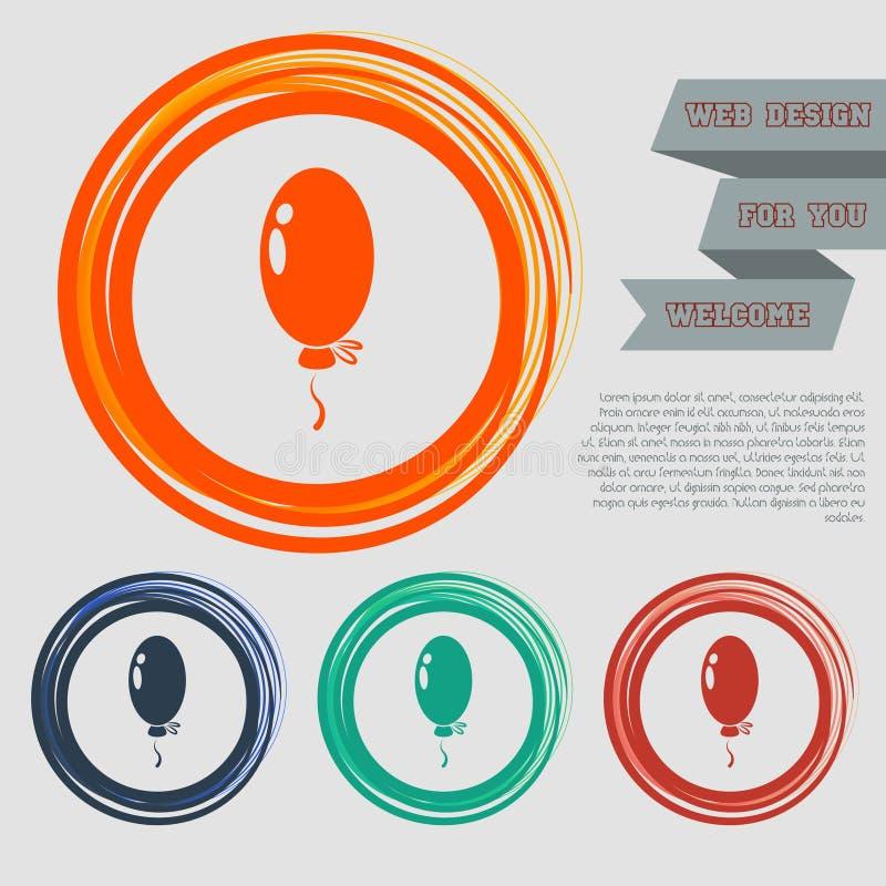 迅速增加在红色,蓝色,绿色,橙色按钮您的网站的和设计的象与空间文本 皇族释放例证