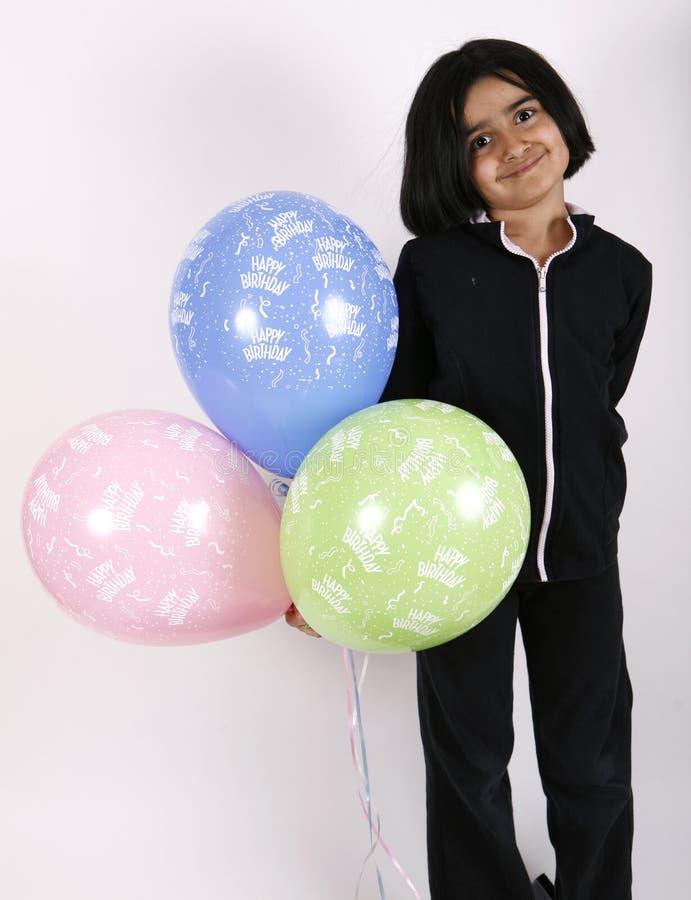 迅速增加生日女孩 免版税库存照片