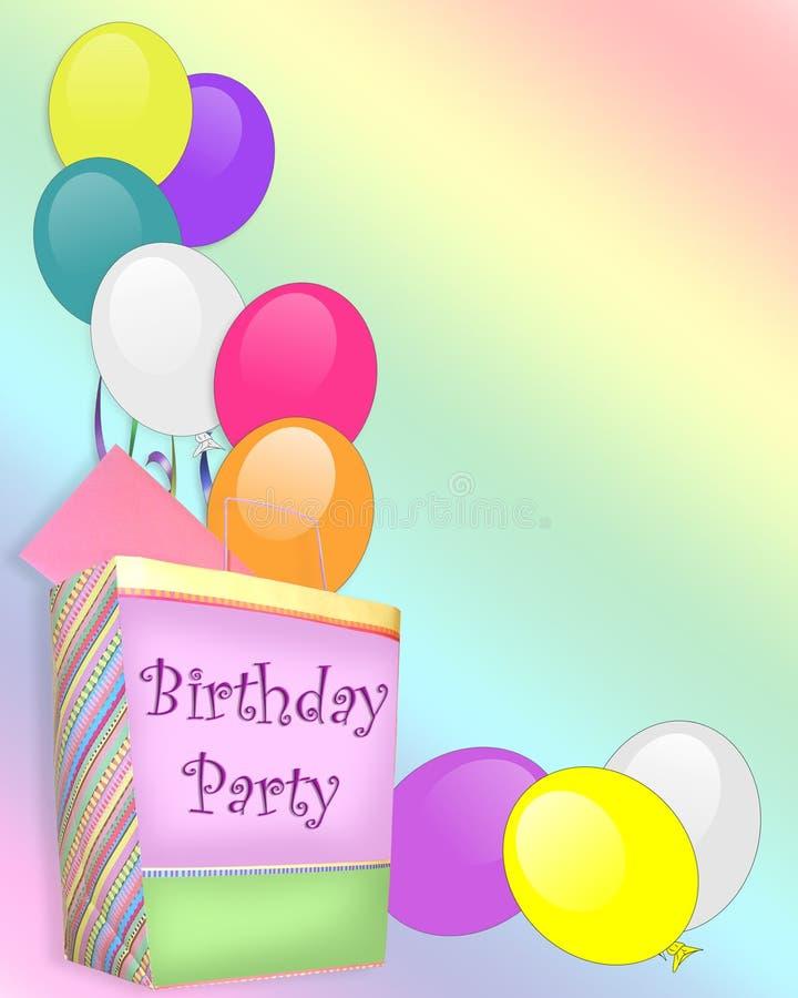 迅速增加生日礼物邀请当事人 库存例证