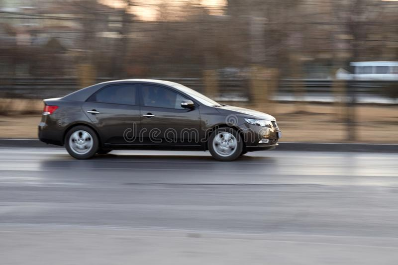 迅速汽车超速 库存图片