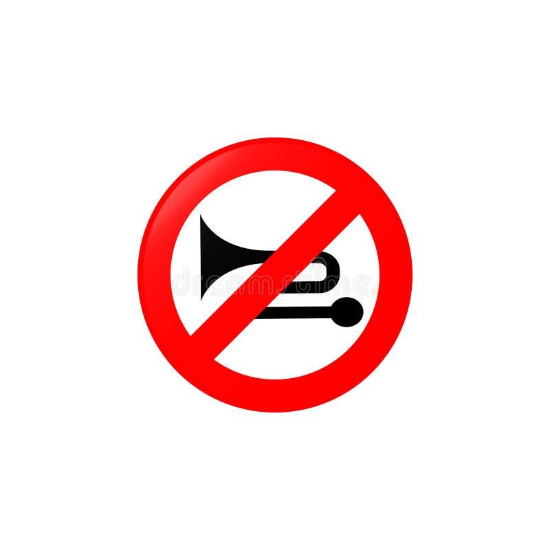 过份noiser被禁止的象 流动概念和网apps的路标象的元素 被禁止的色的过份noiser 向量例证