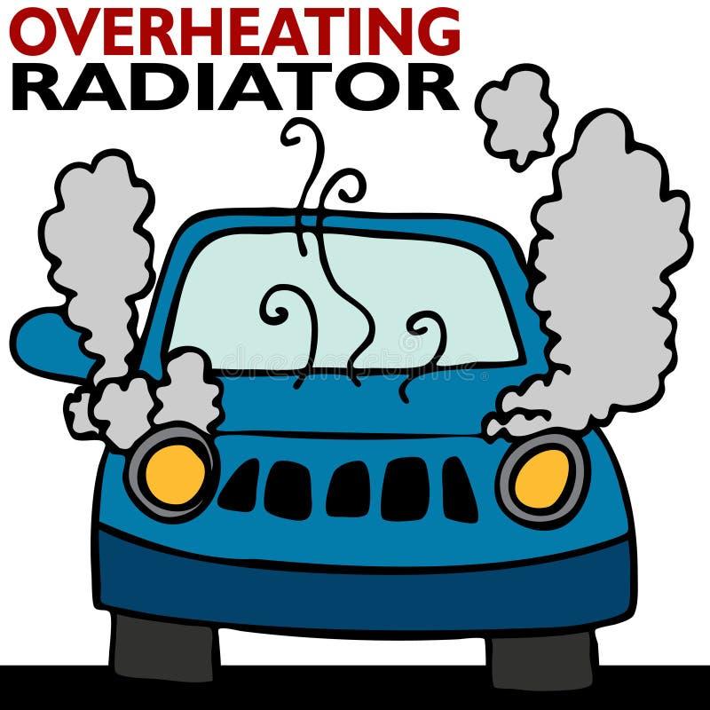 过度加热的幅射器 库存例证