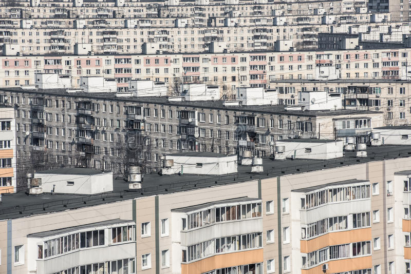 过度拥挤的城市 库存照片