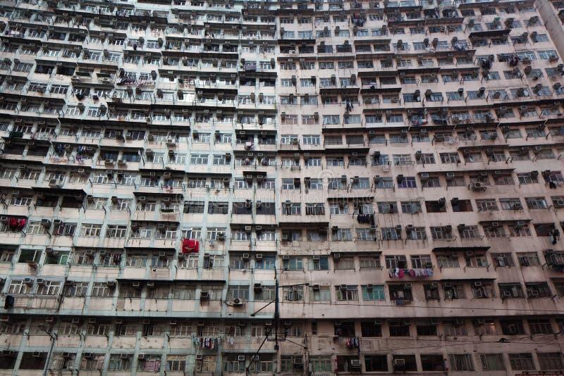 过度拥挤的居民住房 免版税图库摄影