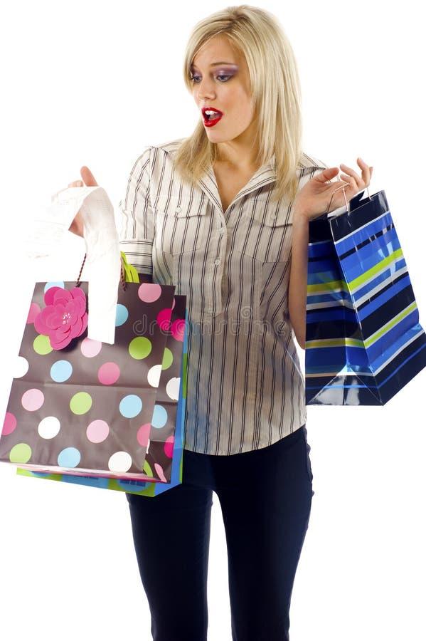 过度花费的购物 库存照片