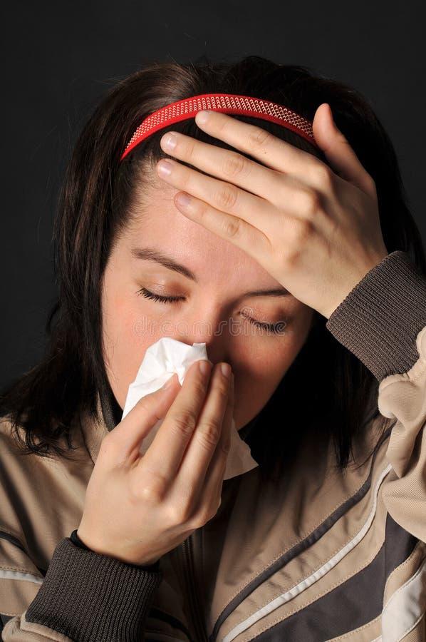 过敏寒冷流感 库存图片