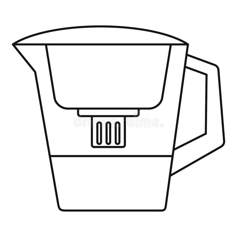 过滤器水壶象,概述样式 库存例证