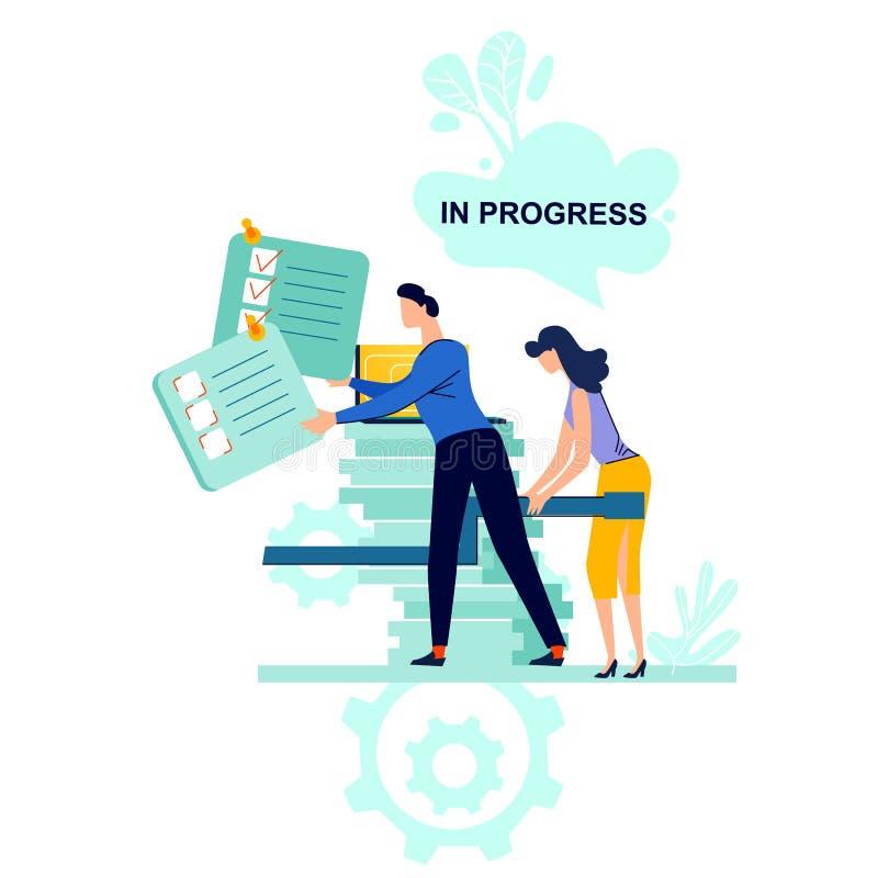 过程中的企业概念传染媒介例证 向量例证
