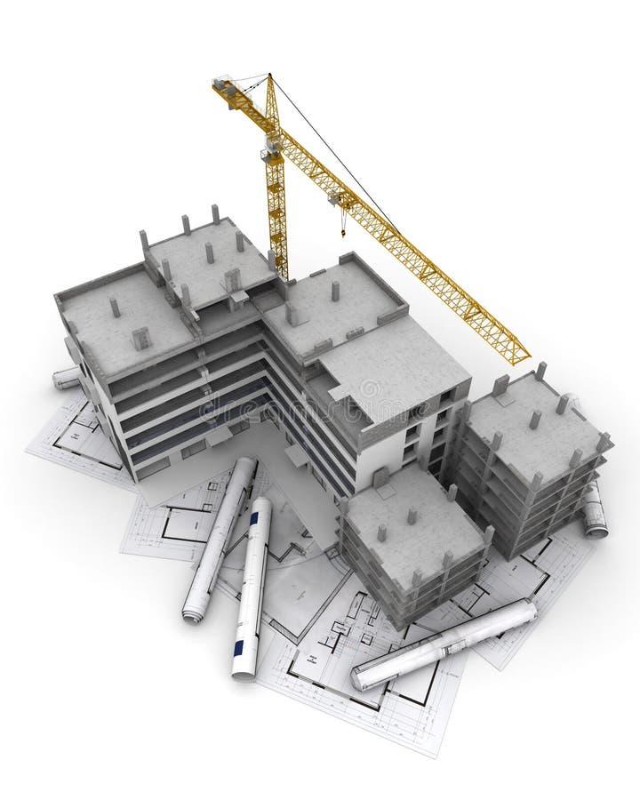 过程中的工程项目 库存例证