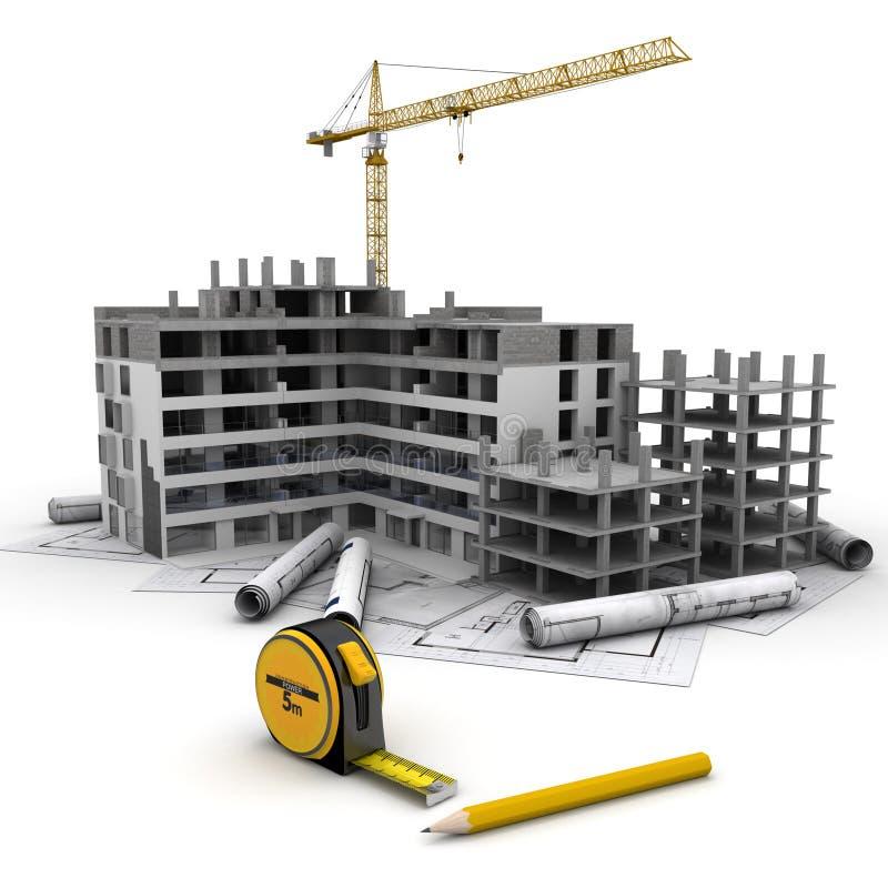 过程中的工程项目 向量例证