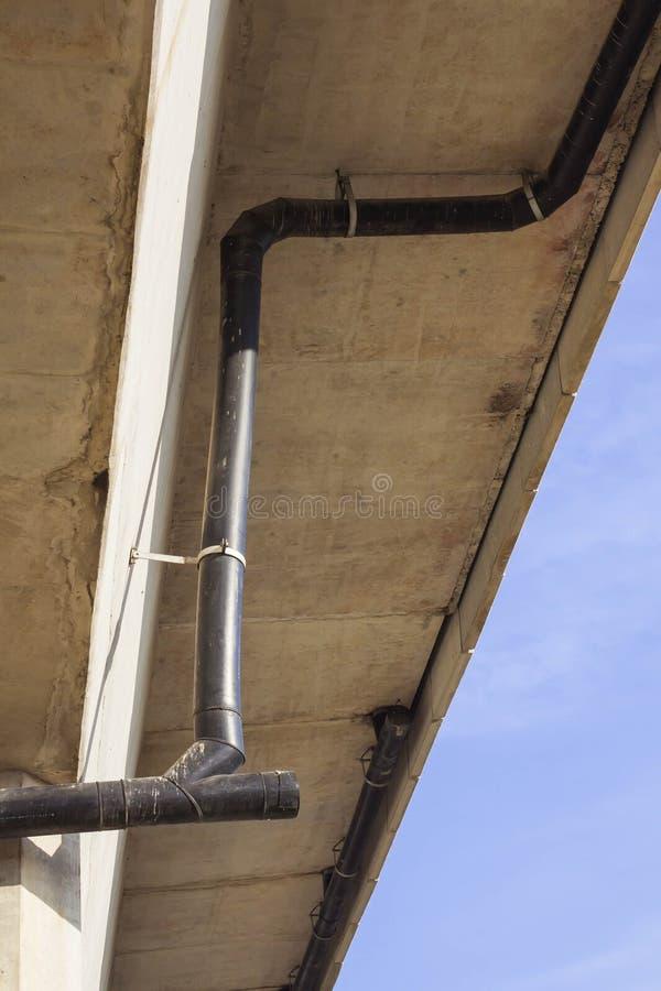 过去看法设施为高密度聚乙烯排水管系统清除(CO) 免版税库存照片