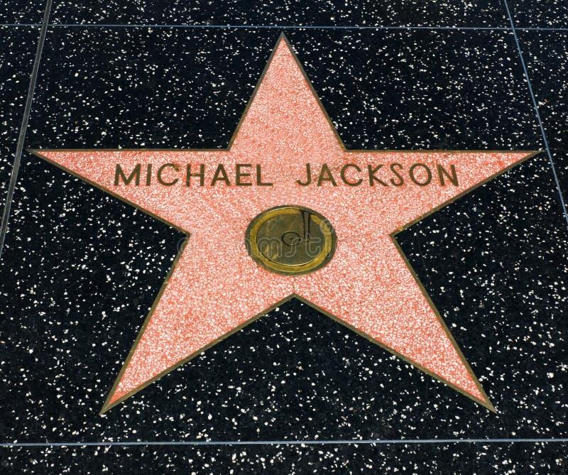 迈克尔・杰克逊` s星,好莱坞星光大道- 2017年8月11日, -好莱坞大道,洛杉矶,加利福尼亚,加州 免版税库存图片