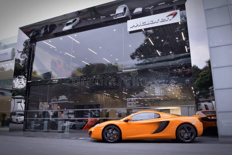 迈凯轮新加坡 免版税库存照片