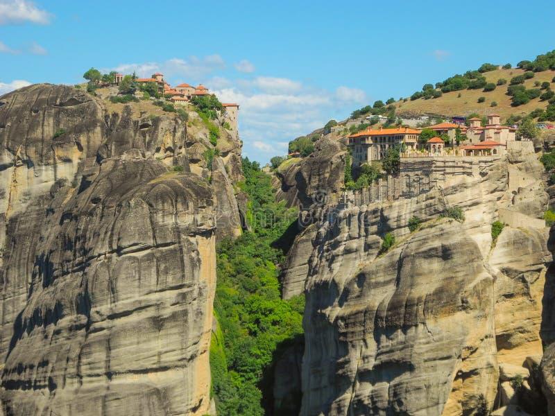 迈泰奥拉岩石在希腊 图库摄影