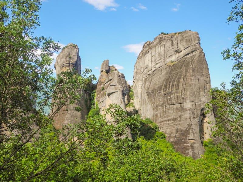 迈泰奥拉岩石在希腊 免版税库存照片