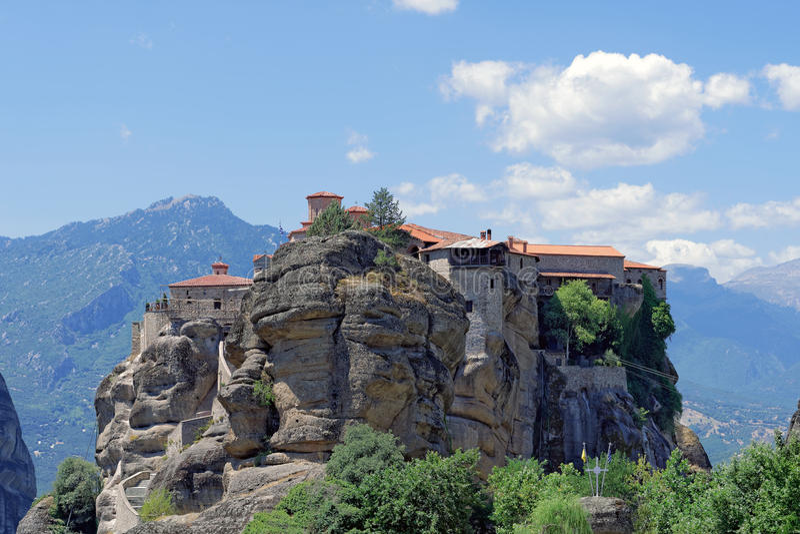 迈泰奥拉Varlaam修道院希腊 库存照片