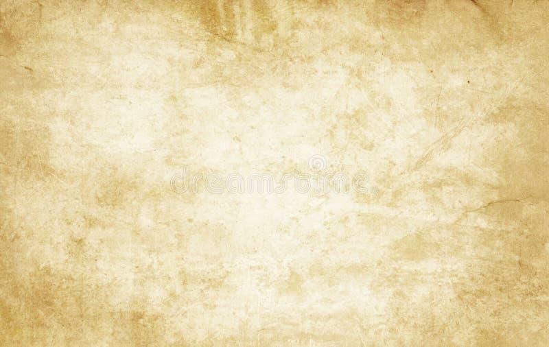 年迈的和被染黄的纸纹理 免版税库存照片