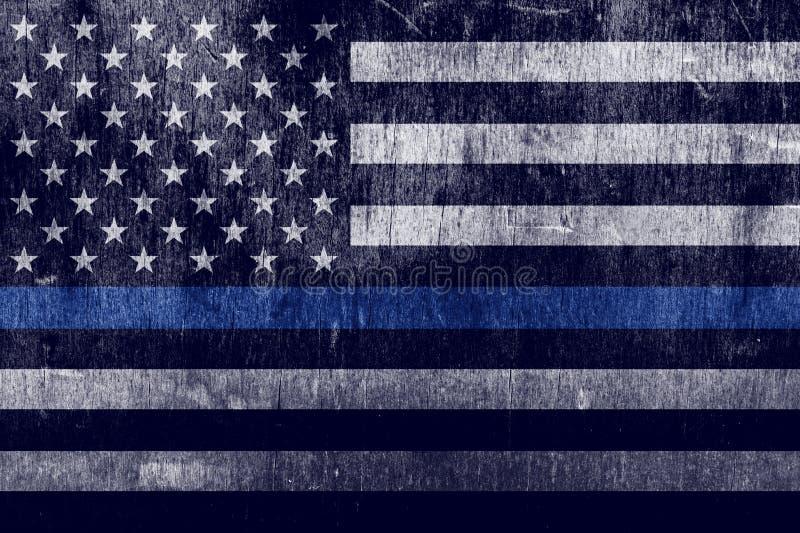 年迈的织地不很细警察支持旗子背景 库存例证