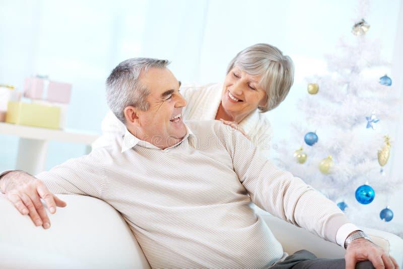 年迈的结婚的生活  库存照片