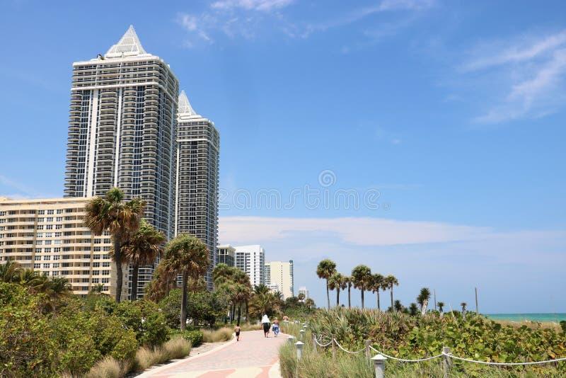 迈阿密中间海滩 免版税库存照片