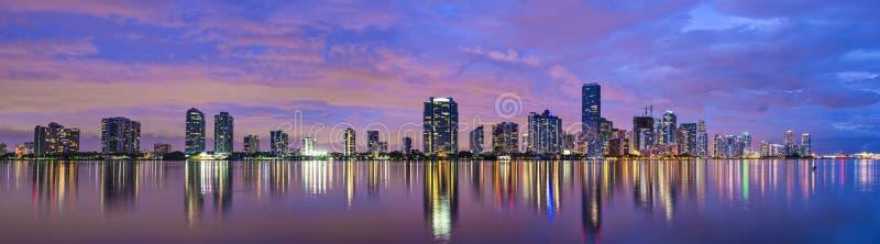 迈阿密佛罗里达地平线 库存图片
