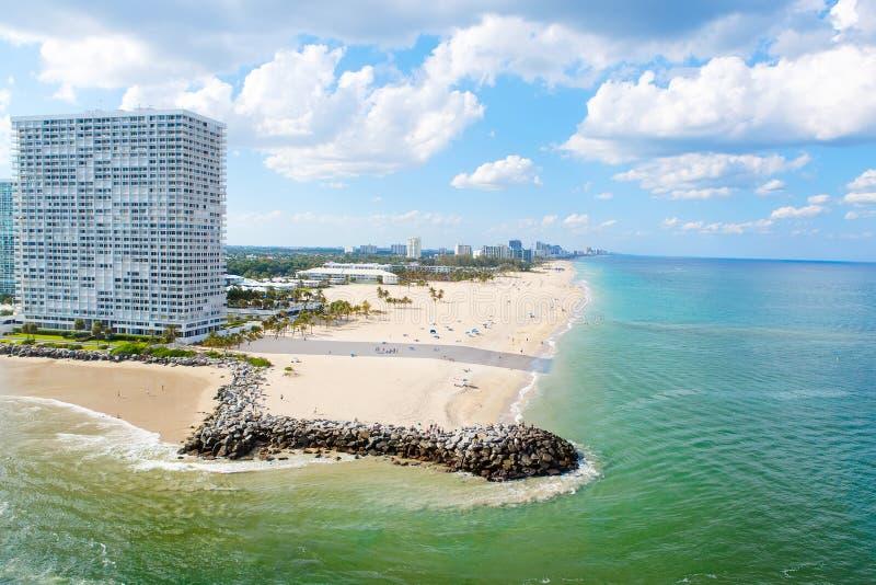 迈阿密南海滩,佛罗里达,美国鸟瞰图  库存图片