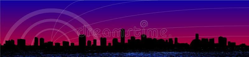迈阿密地平线 向量例证