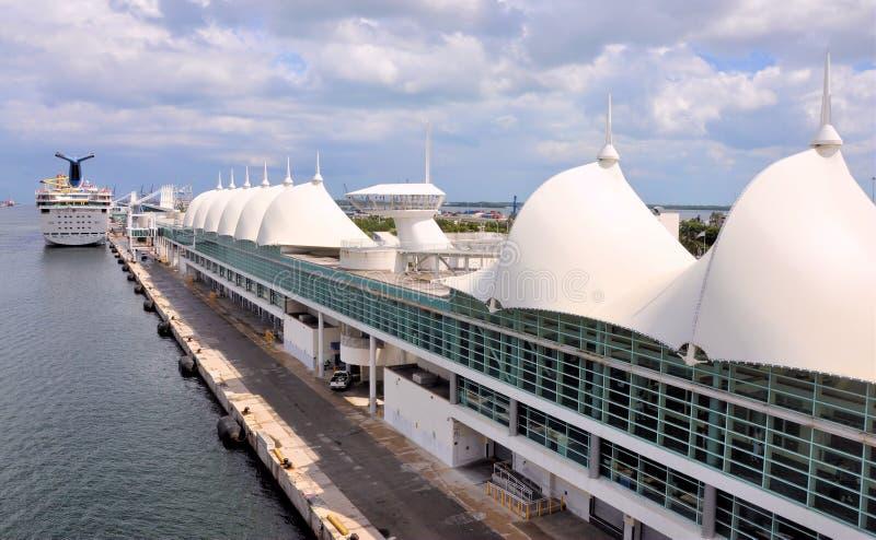 迈阿密巡航终端 库存照片