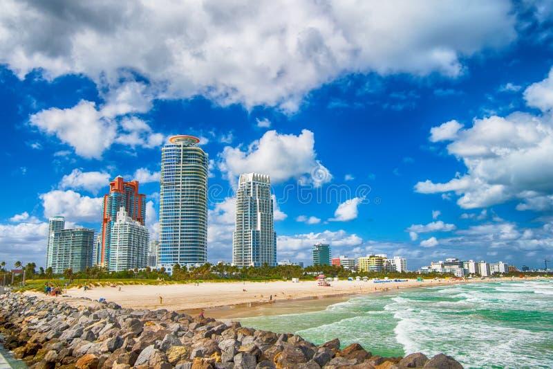 迈阿密或南海滩佛罗里达 免版税图库摄影