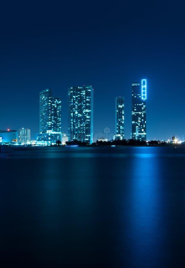 迈阿密晚上地平线 库存照片