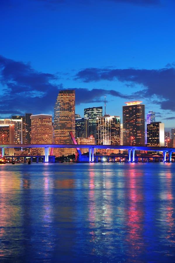 迈阿密晚上场面 免版税图库摄影