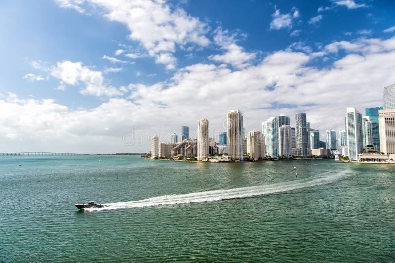 迈阿密江边鸟瞰图  库存照片