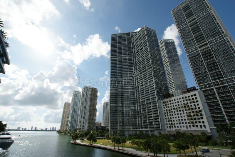 迈阿密河大厦 免版税图库摄影