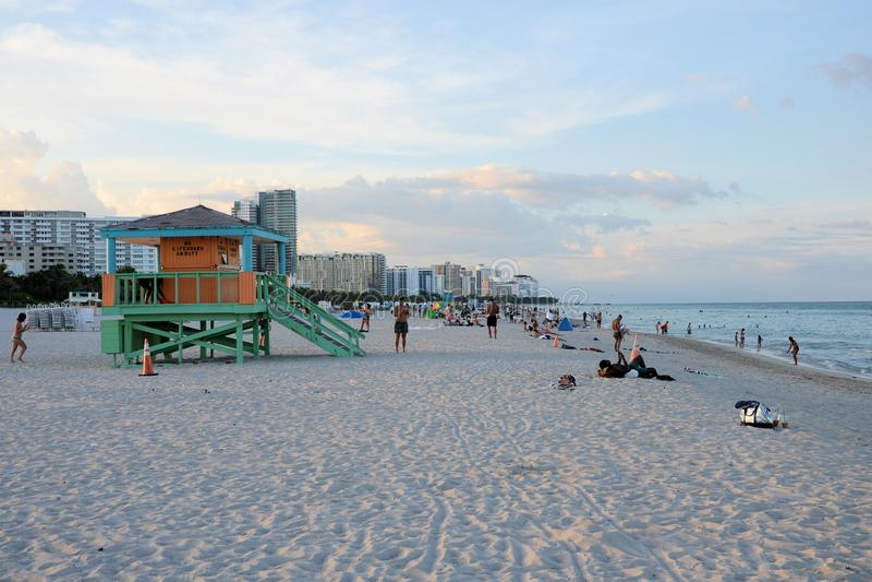 迈阿密海滩人 库存图片