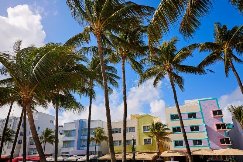 迈阿密海滩海洋大道艺术装饰佛罗里达 库存图片