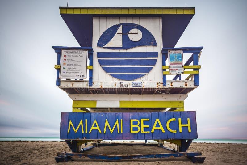 迈阿密海滩Lifegaurd塔 免版税库存图片