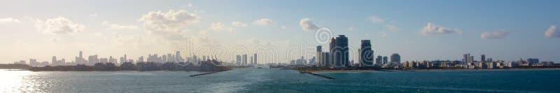 迈阿密港口全景 免版税库存照片