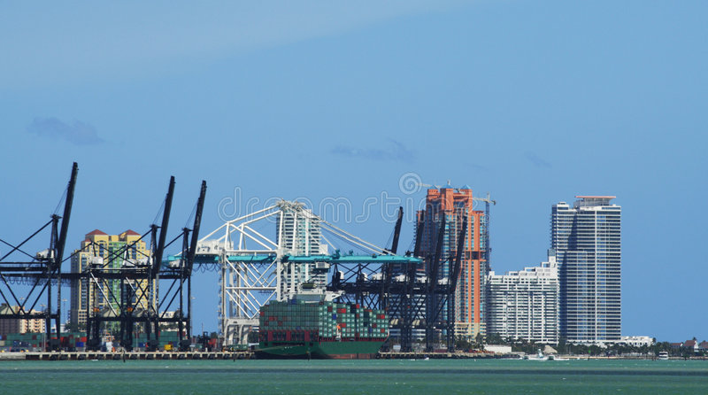 迈阿密端口 库存图片